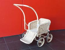 Cane dolls pushchair